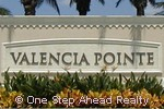Valencia Pointe community sign