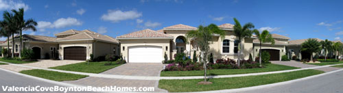 Pristine houses and immaculately-kept lawns are what you will find within Valencia Cove in Delray Beach, FL.